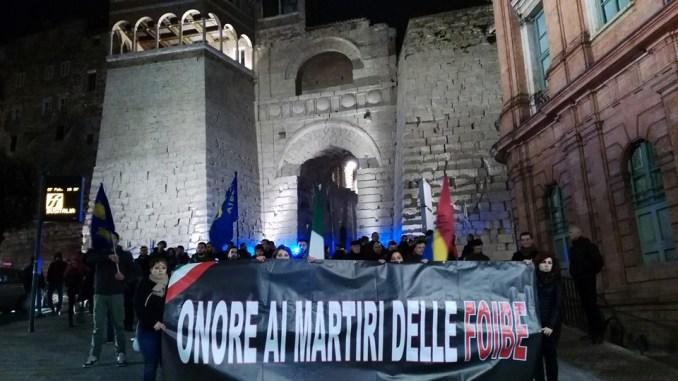 Corteo per i martiri delle Foibe domenica pomeriggio a Perugia