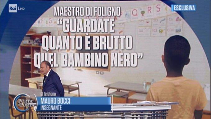 Caso razzismo scuola Foligno, il maestro spiega a Porta a Porta