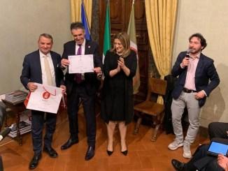 Gino Sirci e la sua Sir Safety Conad volley ambasciatori dello sport