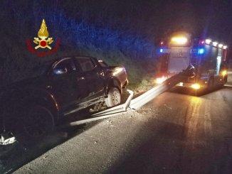 Incidente stradale nella notte tra Castel del Piano e Pila, illeso conducente