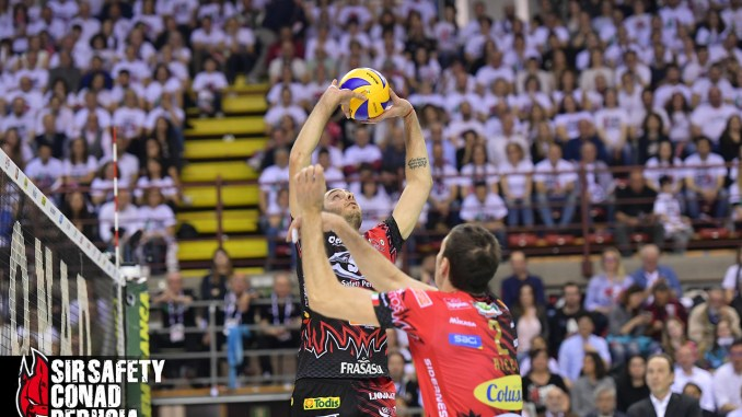 Volley, Sir Safety, subito in campo! Domani gara 2 in un Palapanini sold out!