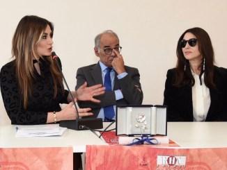 Monica Bellucci riceve il premio Rosa dell'Umbria a Città di Castello