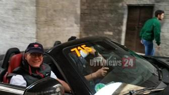 La 1000 Miglia ha fatto tappa a Perugia, auto da 40 paesi esteri