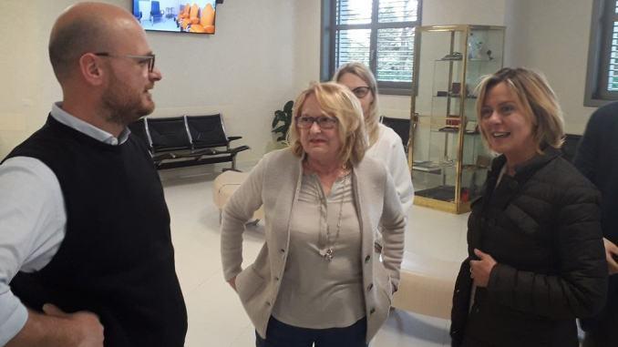 Beatrice Lorenzin a Perugia, è stata in visita alla clinica di Porta Sole