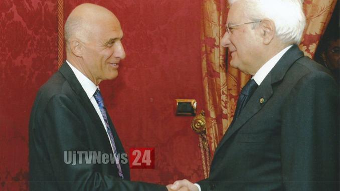 Professor Falini premiato dal Capo dello Stato, Sergio Mattarella