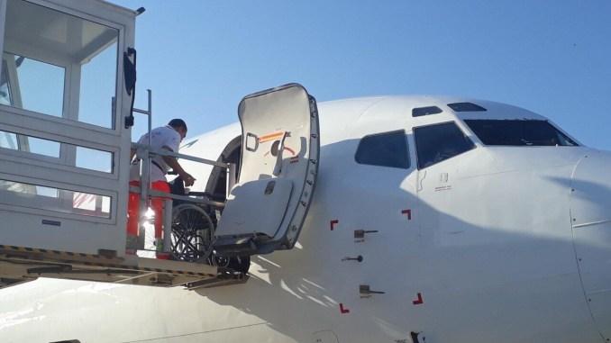 Partito volo charter dall'aeroporto internazionale dell'umbria a Lourdes |Foto