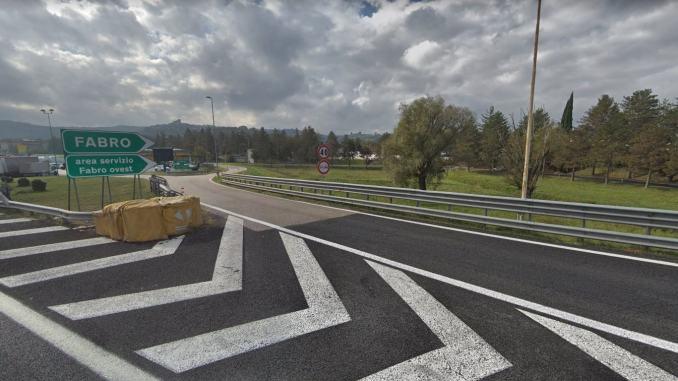 A1 Milano-Napoli: chiusure notturne dell'uscita della stazione di Fabro