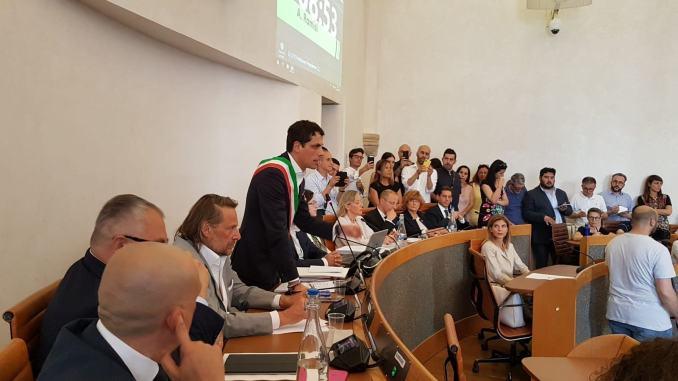 Foto insediamento Consiglio comunale Perugia e elezione presidente Assemblea