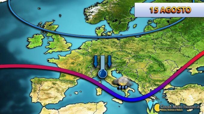 Italia sotto afflusso correnti più fresche, i dettagli per Ferragosto