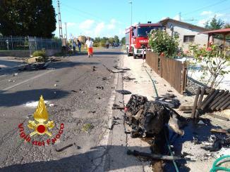 Incidente stradale a Papiano, due auto coinvolte, quattro feriti, anche un bambino