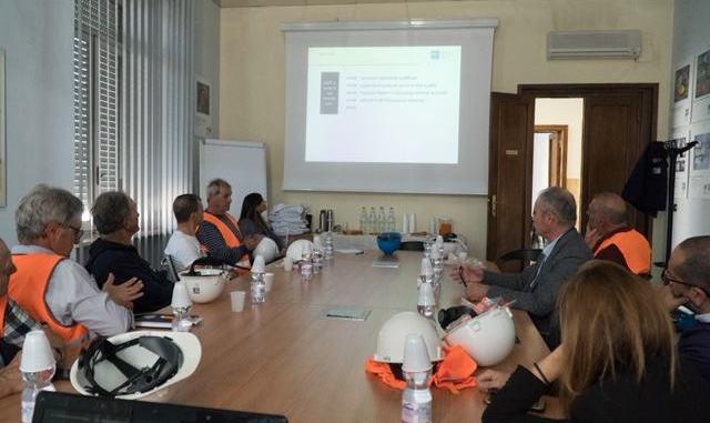 Il Comune di Terni e i cittadini di Prisciano in visita agli impianti di Acciai Speciali Terni