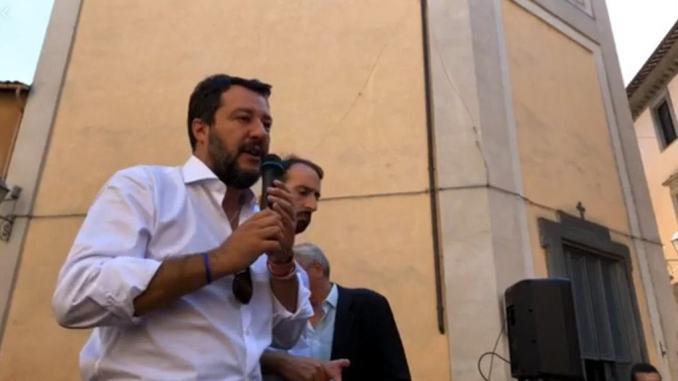 Elezioni Umbria, Matteo Salvini ad Orvieto, diretta streaming