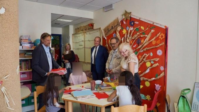 Il vicesindaco ha visitato la scuola dell'ospedale di Perugia