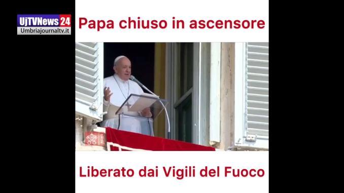 Ascensore si blocca, Papa Francesco bloccato 25 minuti, liberato dai Vigili del Fuoco