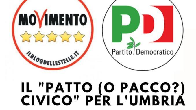 Il patto o - pacco? - civico per l'Umbria, De Vincenzi, FdI, caustico