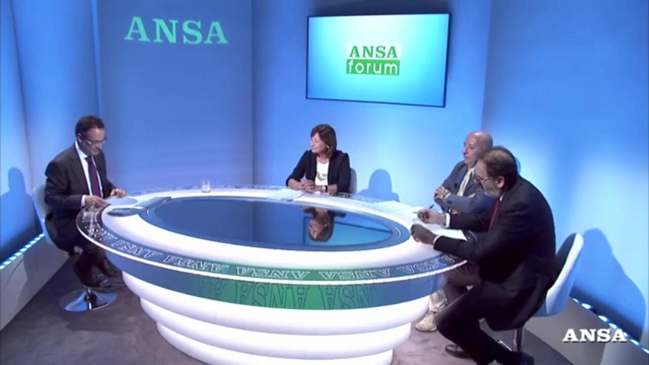 Donatella Tesei al forum video dell'Ansa lancia fondazione studi e brevetti
