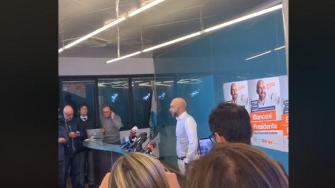 Elezioni, Vincenzo Bianconi: «Ho perso, ma lo rifarei per l'Umbria»