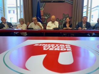 """Vincenzo Bianconi alla presentazione della lista """"Sinistra, civica, verde"""""""