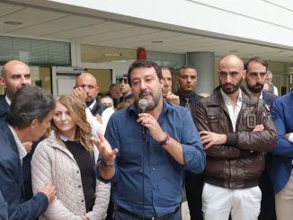 Elezioni Umbria, Matteo Salvini a Fontivegge, non faccio previsioni, importante vincere