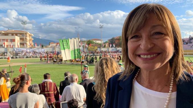 Tesei, Giostra della Solidarietà e incontro con i cittadini a Gualdo Cattaneo
