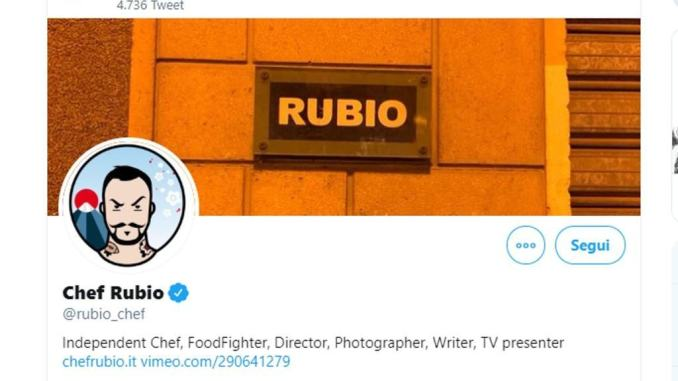 Fratelli d'Italia denuncia Chef Rubio, ha scritto «Razzisti umbri» su Twitter