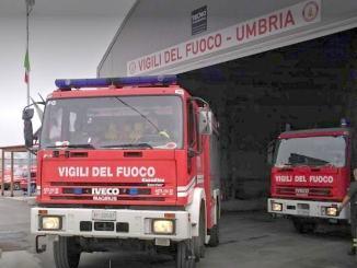 Distaccamento vigili del fuoco da Norcia a Cascia, c'è rabbia e sgomento