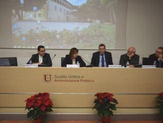 Presidente Tesei al seminario sull'esperienza dell'Unione dei Comuni Terre dell'Olio e del Sagrantino
