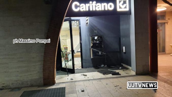 Colpo alla Carifano, Ponte Felcino Perugia, esplode bancomat nella notte