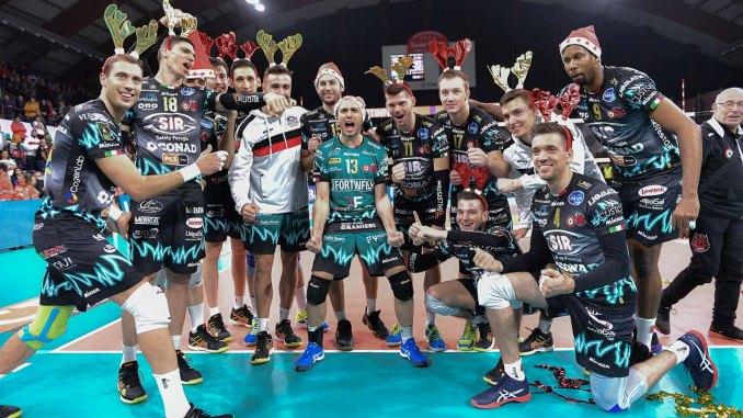 Volley, Perugia sull'ottovolante, battuta Cisterna 3-1 nella prima di ritorno di Superlega