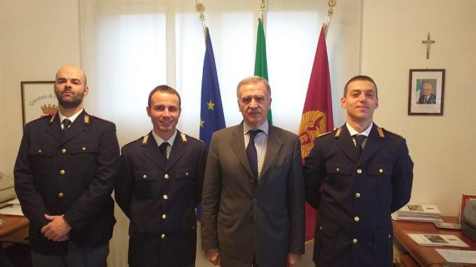 Tre nuovi vice ispettori in Questura a Perugia