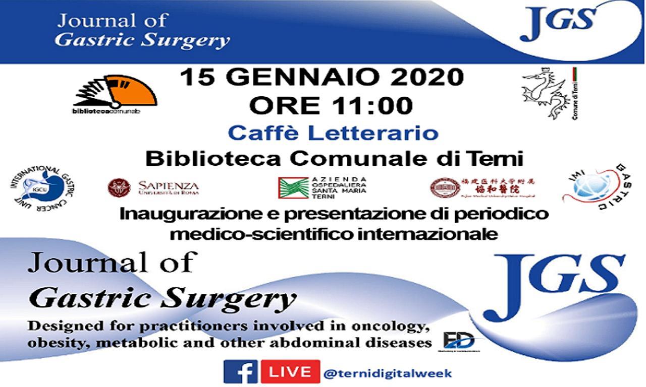 Journal of Gastric Surgery mercoledì15 gennaio2020 la presentazione