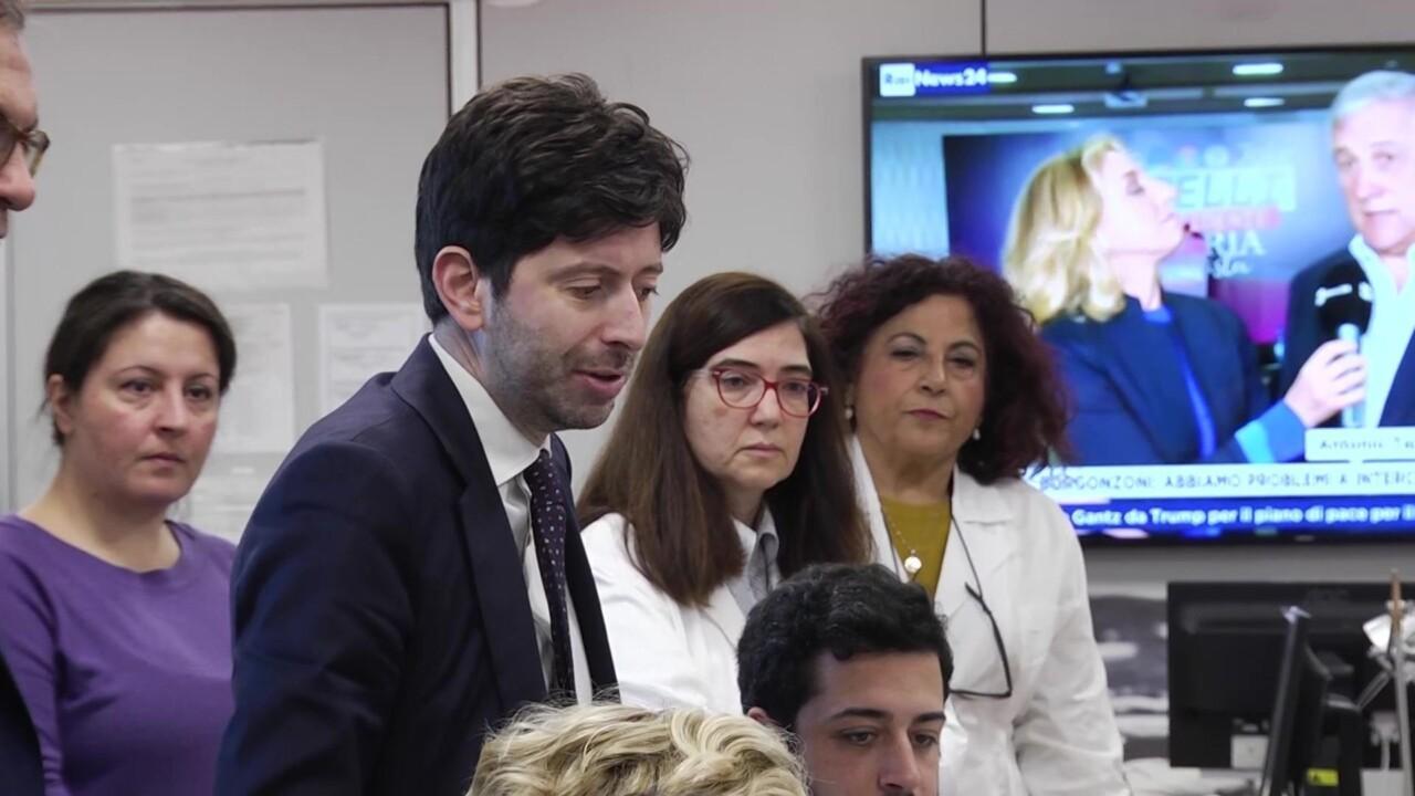Il ministro alla salute Roberto Speranza a Perugia 31 gennaio 2020