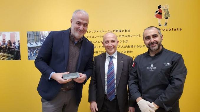 Eurochocolate Japan a Tokyo visita dell'Ambasciatore italiano in Giappone