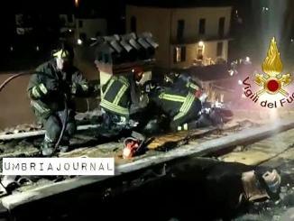 A fuoco canna fumaria a Castel del Piano di Perugia, tetto lesionato