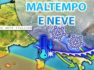 Arriva il freddo l'Umbria tra le cinque regioni più colpite