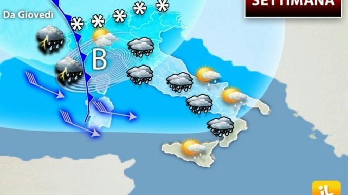 Meteo pioggia e nevicate, non finirà qui, giovedì nuovo fronte perturbato