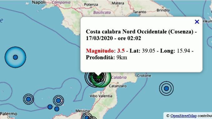 Terremoto in Calabria, tra 2.5 e 3.8, non bastava il coronavirus