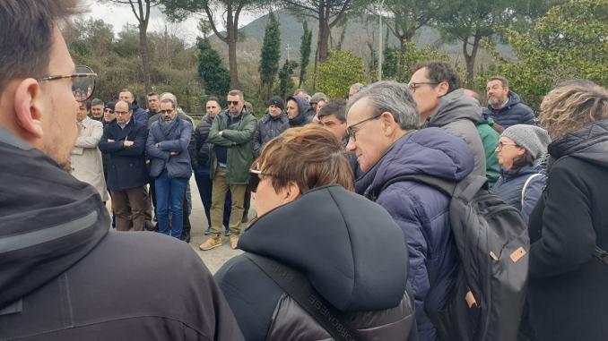 Crisi Sangemini, Maria Elisabetta Mascio al presidio dei lavoratori