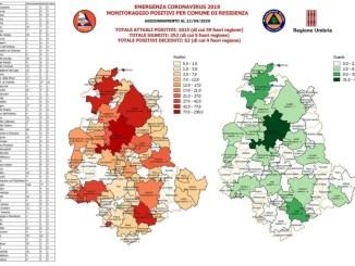 Coronavirus, in Umbria il 12 aprile, calano di 50 gli attualmente positivi, 252 i guariti, +60