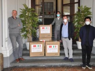 Dieci mila mascherine da Wuxi, Cina, all'Università per stranieri