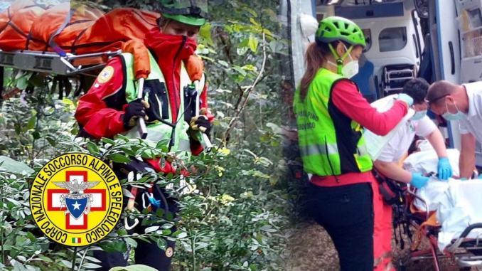 Escursionista di 54 anni ferita a Sant'Erasmo di Terni, recuperata dal Sasu