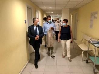 L'assessore alla sanità Coletto in visita alle strutture sanitarie di Orvieto