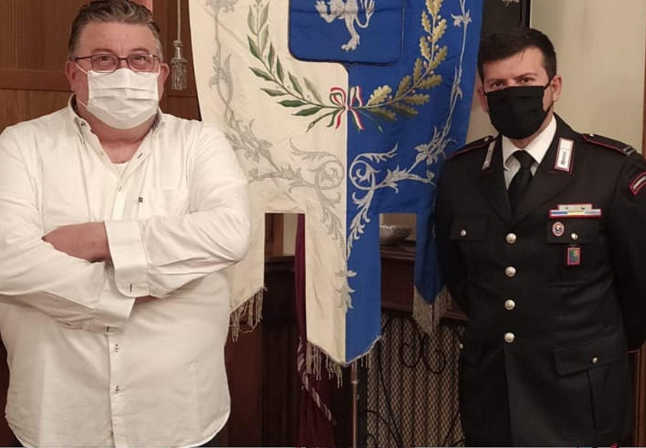 Comando Stazione Carabinieri Sigillo, il maresciallo Guglielmo Iezza lascia