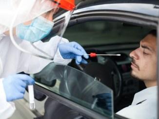 Tamponi rinofaringei modalità drive through negli impianti sportivi Amelia Paticchi