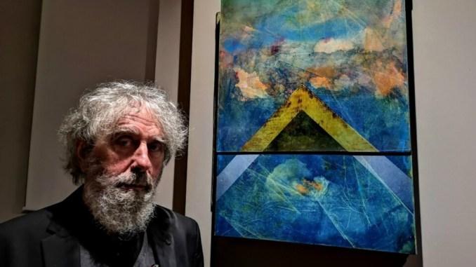 """L'artista Giuliano Giuman ha fatto oggi visita alla """"Società operaia"""""""