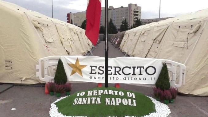 Covid-19, Calvisi,operativo ospedale da campo Esercito Italiano a Perugia