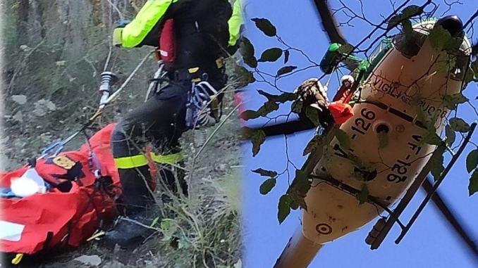Uomo cade nel bosco a San Giovanni del Pantano, scatta emergenza