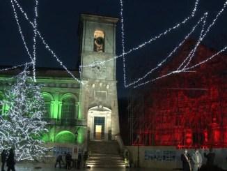 Inaugurato restauro Torre Civica, Norcia, Cucinelli in piazza San Benedetto