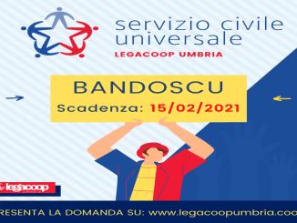 Pubblicato bando 2020 Servizio Civile Universale con LegaCoop Umbria
