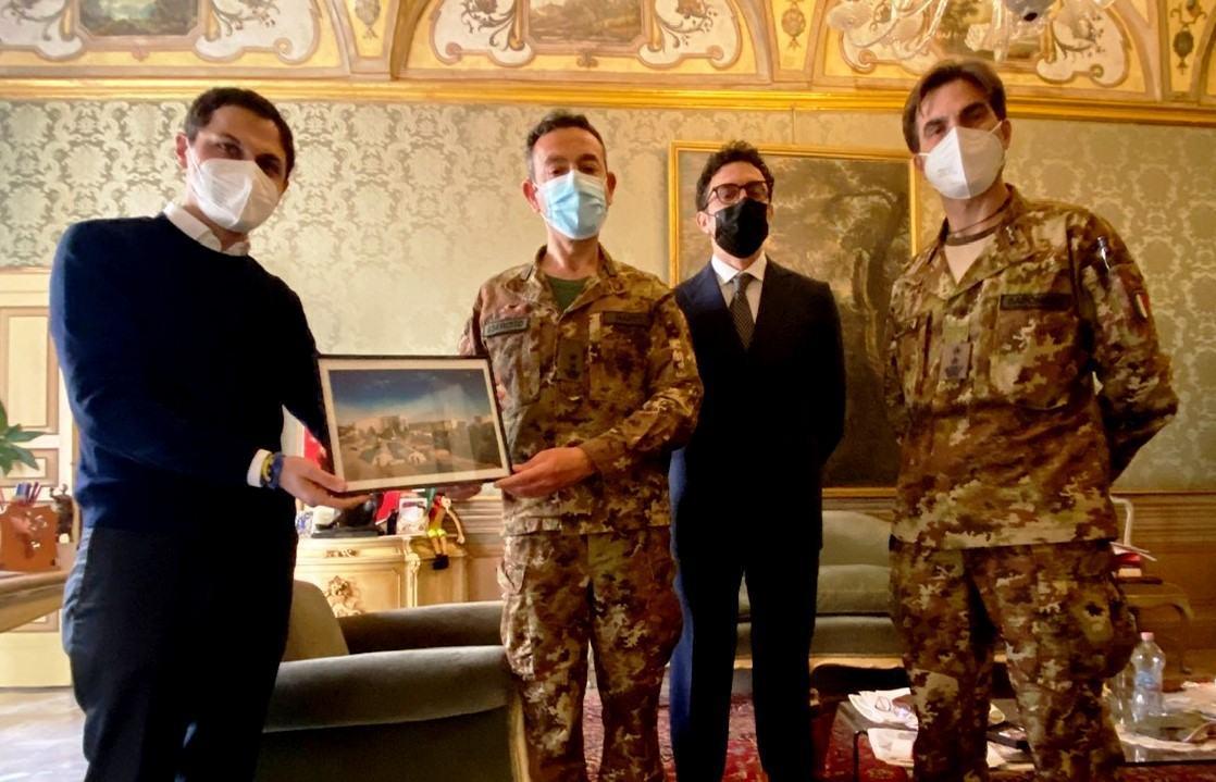 Il saluto della città di Perugia al direttore dell'ospedale da campo Nappi